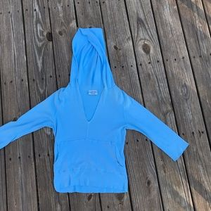 Michael Stars hoodie sz s blue light weight.  A50